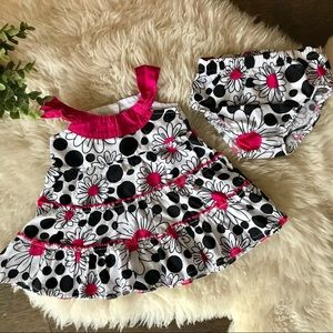 Other - 5/$20 Lilybird pink black & white floral dress